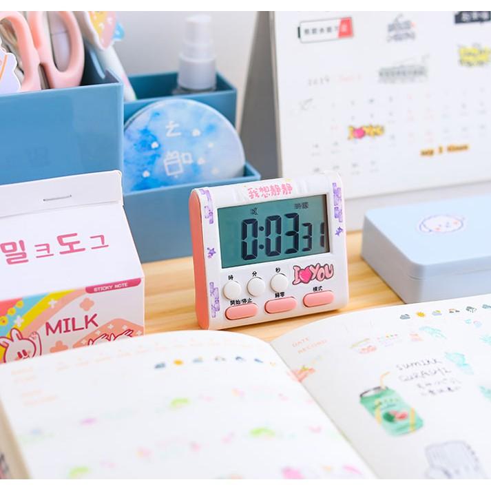 Đồng hồ báo thức bấm giờ đếm ngược để bàn âm báo to, sử dụng pin dễ dàng thay lắp