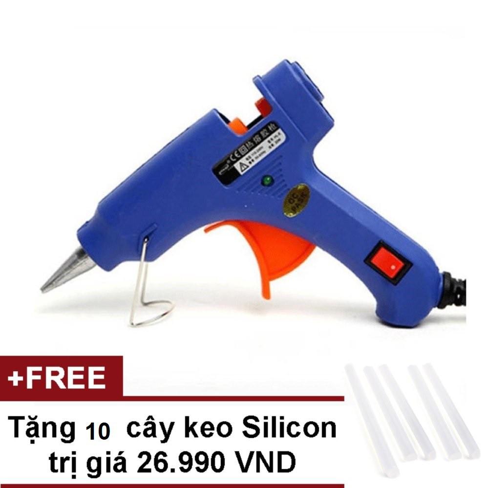 Dụng cụ gắn Keo Nến Silicon (Xanh) + Tặng 10 Cây Keo