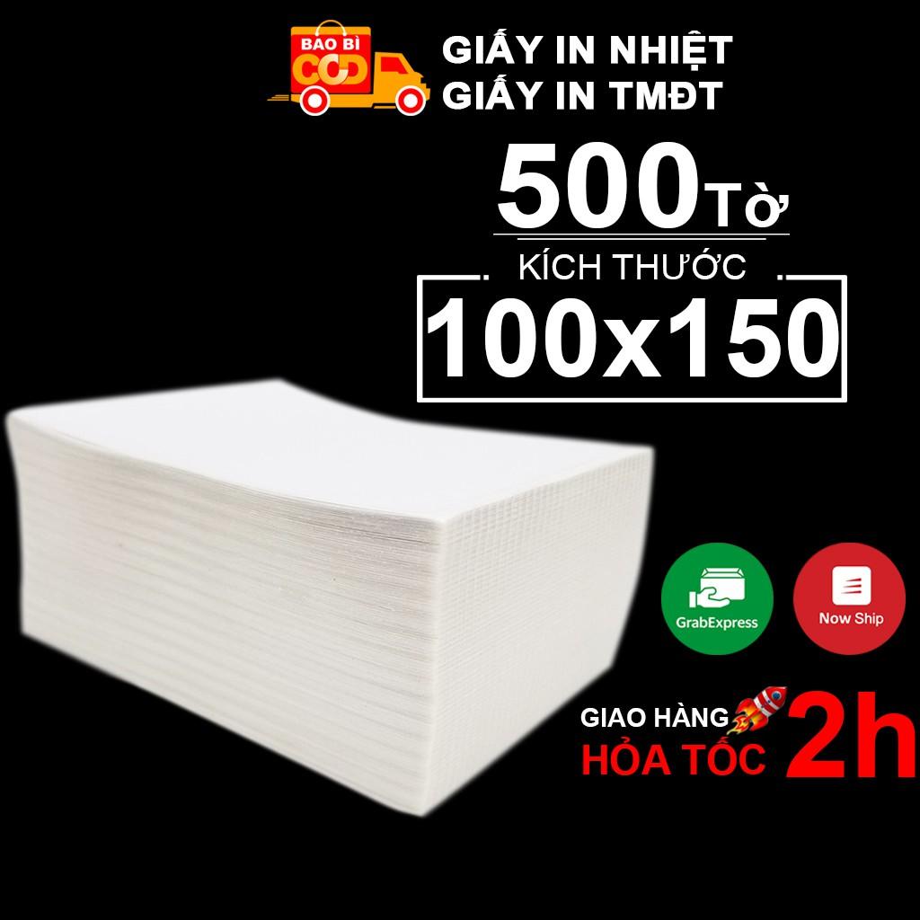 Giấy In Nhiệt Tự Dính Dạng Tập 500 Tờ 100x150 - CÓ SẴN LỚP DÁN - In Đơn Shopee TMĐT