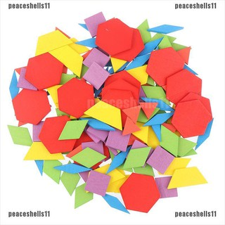 【peace】155 pcs 3d Wooden jigsaw puzzle Early childhood education Geometric Ta