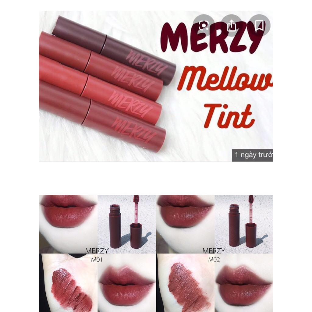 [Mã COSFS3 giảm 10% đơn 150K] Son Kem Merzy Bite The Beat Mellow Tint