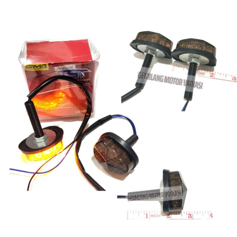 Đèn Led xi nhan Mini R15 V3 V2 Cbr 150R Gsx R150 Ninja TST GMA hình Oval chuyên dụng