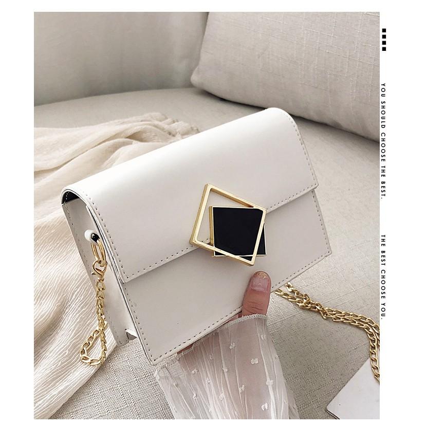 Túi xách nữ khóa xéo thời trang túi đeo chéo HADAS TXKXEO hàng đẹp 159k sale còn 99k + hình thật