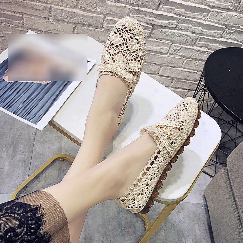 Giày búp bê mũi tròn thoáng khí chống trượt dành cho mẹ bầu