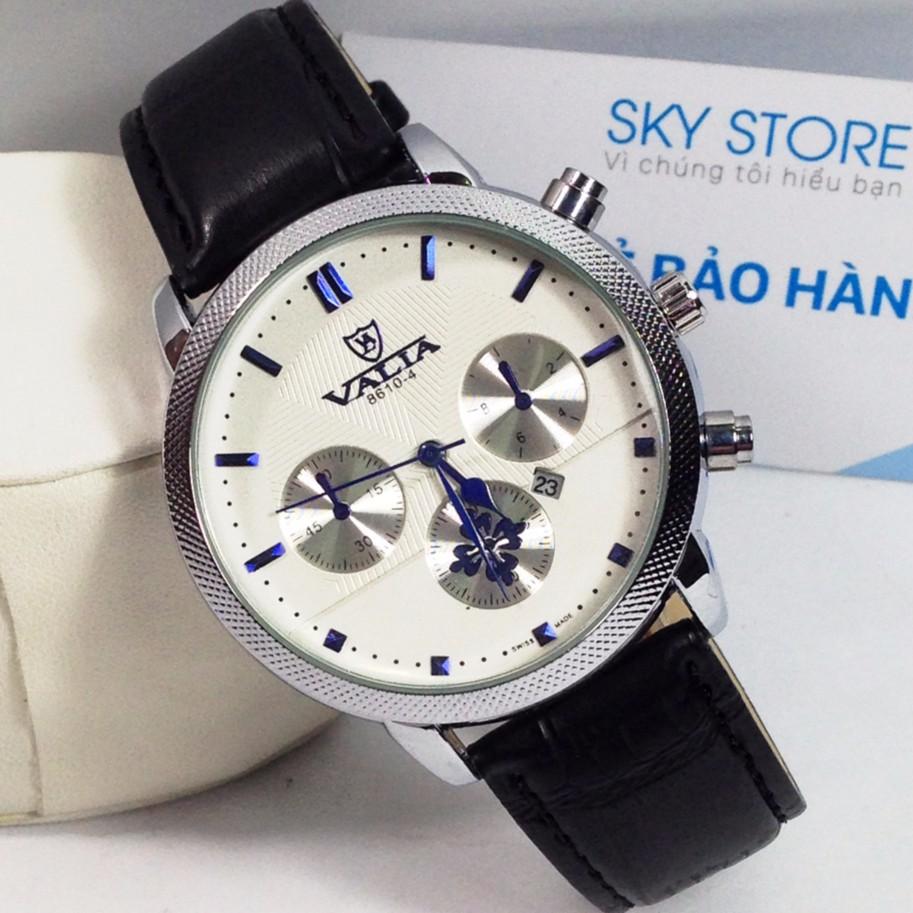 Đồng hồ nam dây da cao cấp thương hiệu VALIA v6633