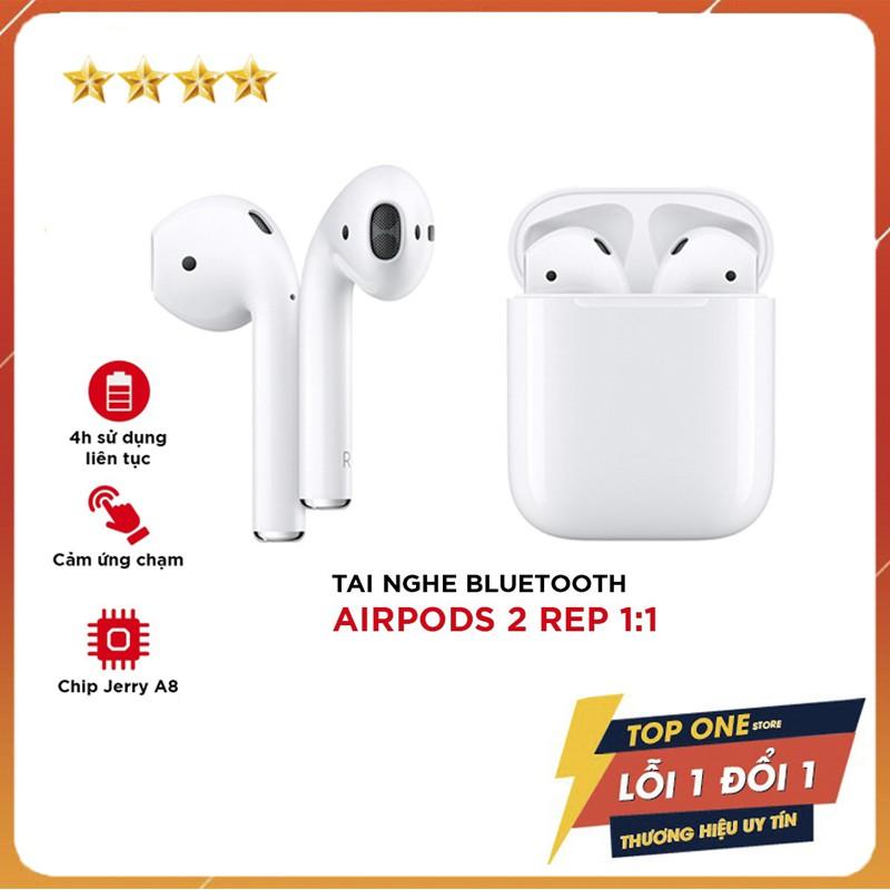 [ BH 12 Tháng ] Tai Nghe Bluetooth Airpod 2 Full Chức Năng Sạc Không Dây, Định Vị Đổi Tên Cảm Biến Tháo Tai Dừng Nhạc