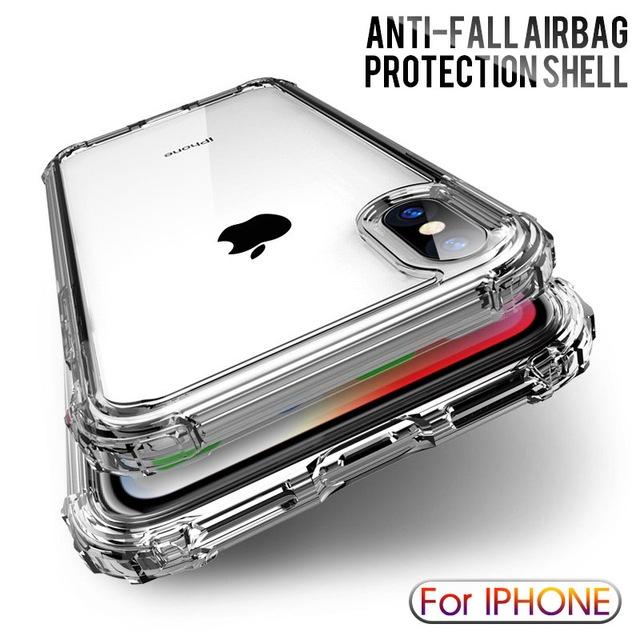 Ốp lưng TPU mềm trong suốt chống sốc cho iPhone 6s 6 7 8 Plus XS Max XR X 11 PRO MAX