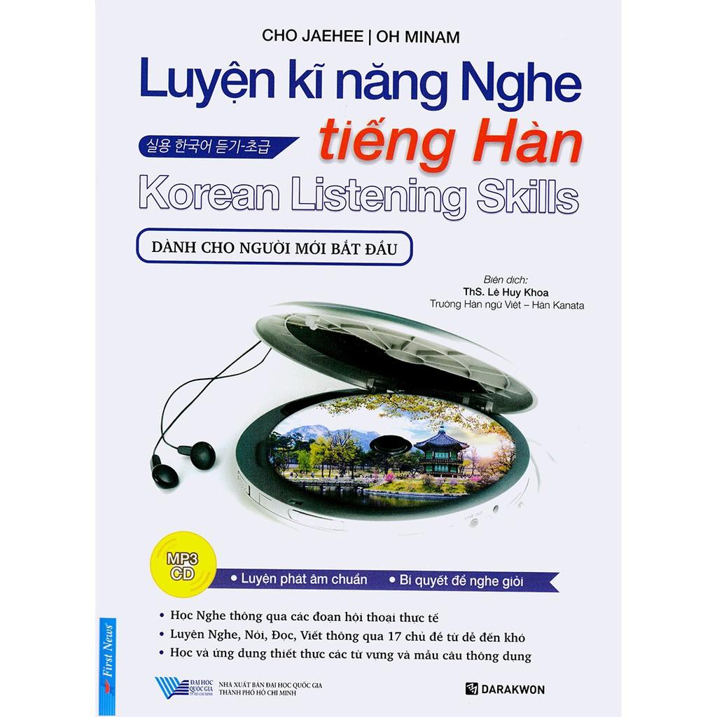 [ Sách ] Luyện Kĩ Năng Nghe Tiếng Hàn (Dành Cho Người Mới Bắt Đầu)