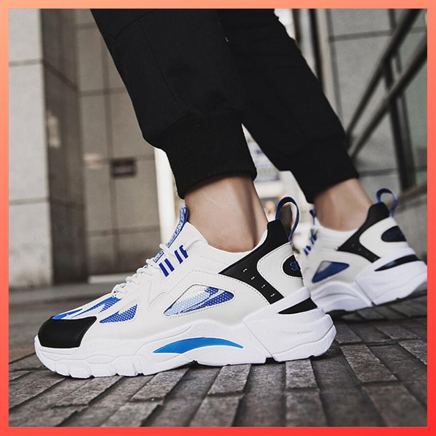 Giày sneaker nam trắng D555 shop Địch Địch chuyên giày nam đẹp