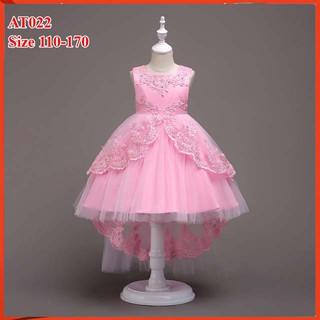 Đầm bé gái cao cấp cho bé từ 14kg đến 45kg màu hồng- đầm công chúa cho bé với voan mềm- 1 đổi 1- freeship đổi