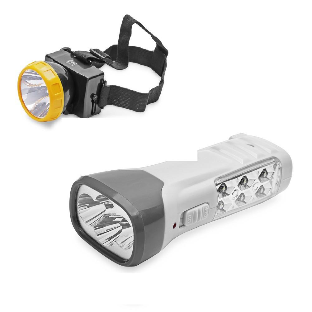 Combo đèn pin sạc Led Comet CRT831G + Đèn pin...