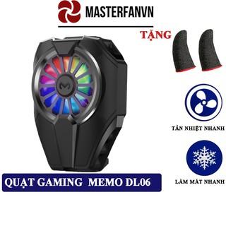 Quạt tản nhiệt điện thoại Memo DL06 làm mát nhanh cho điện thoại gaming game thủ mobile bản nâng cấp DL01 thumbnail