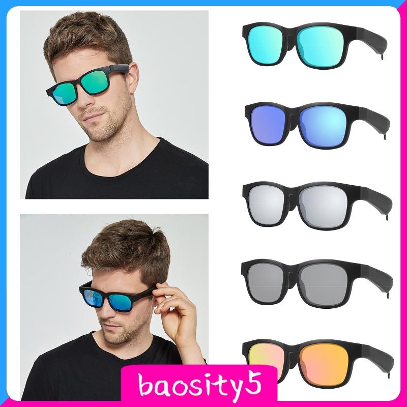 [baosity5] Bone Conduction Smart Glasses Sunglasses Bluetooth Headphones,Open Ear Audio Sunglasses Speaker to Listen Music and Make Phone Calls