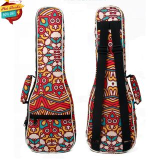 23 Inch Tropical Style Ukulele Bag Backpack Double Shoulder Strap Cotton Padded Ukelele Carrying