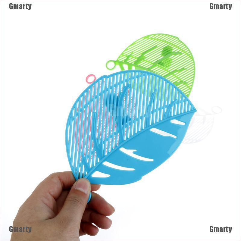 Gmarty leaves shaped plastic pot strainer rice fruit vegetable wash colanders kitchen accessories