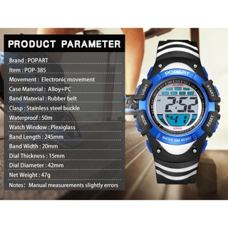 Đồng hồ điện tử chống nước trẻ em popart