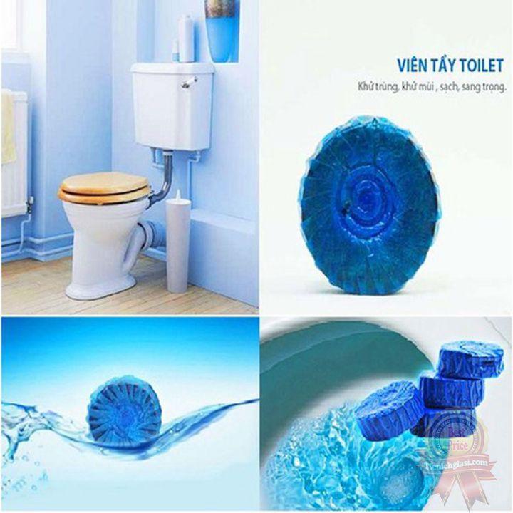 Viên tẩy bồn cầu diệt khuẩn xanh nước