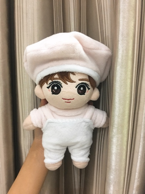 [Outfit Doll 20cm] Set yếm áo và mũ nồi lông thú