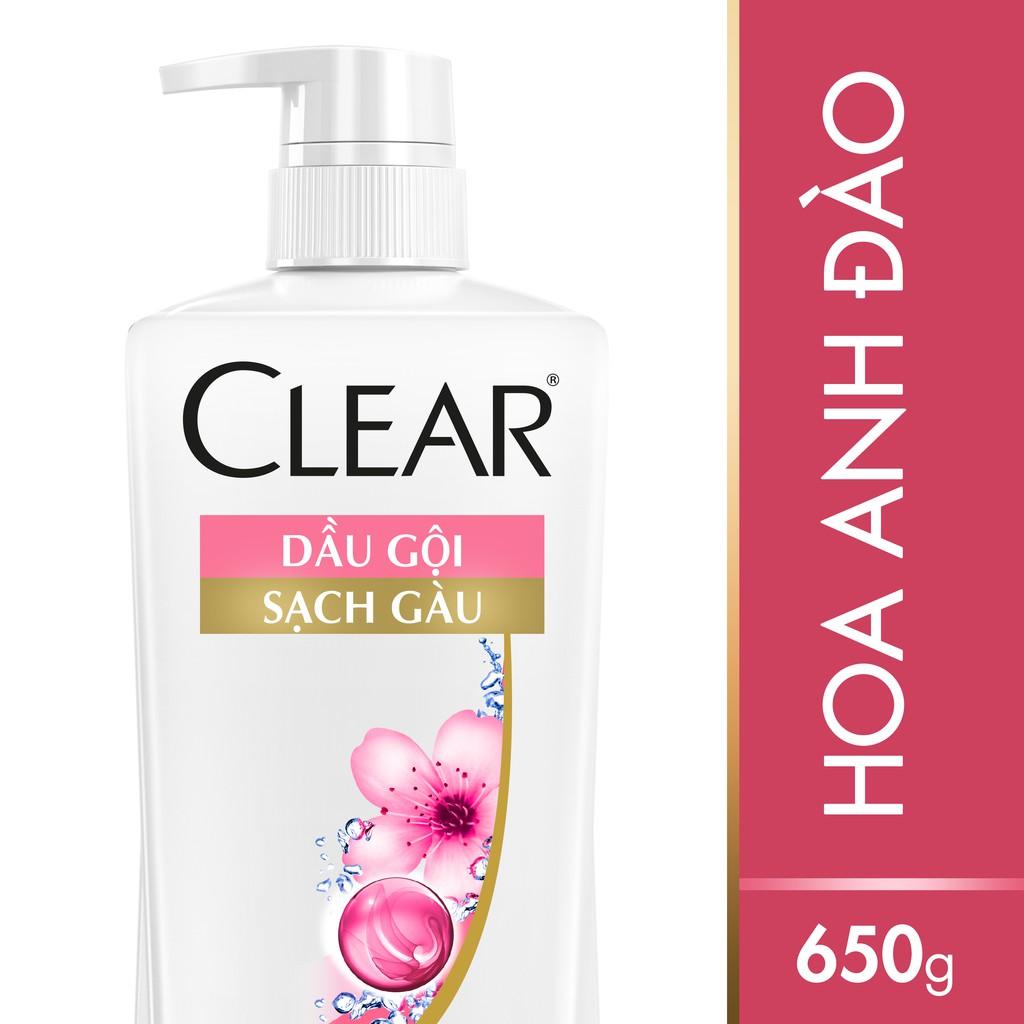 Dầu gội sạch gàu CLEAR Hoa Anh Đào thơm mát 650g (MSP 67020325)