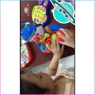 (Hàng chọn lọc) (Nhựa chợ lớn an toàn cho bé) Đồ chơi trẻ em chú hề bỏ banh phát nhạc
