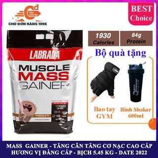 Sữa tăng cân tăng cơ cao cấp Muscle Mass Gainer hương Chocolate bịch 5.4 kg – chính hãng BBT