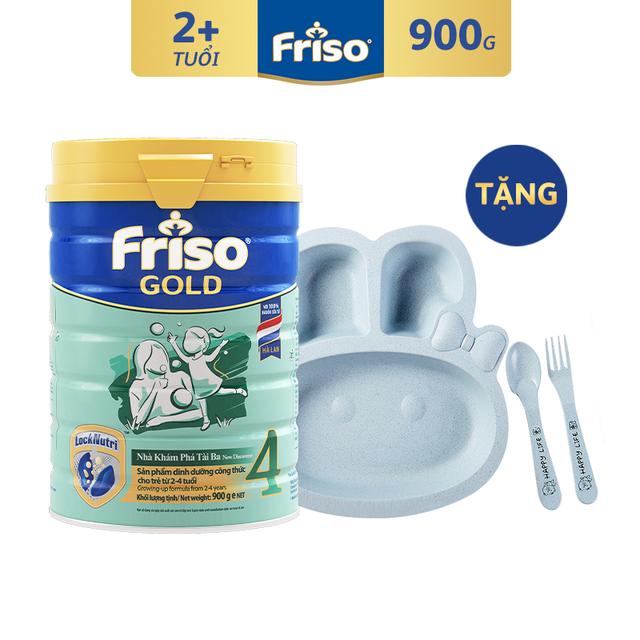 [Độc Quyền Shopee - Tặng Set Ăn Cho Bé] Sữa Bột Friso Gold 4 900g