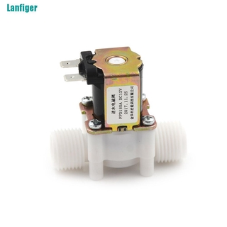 【Lanfiger】1/2″ N/C Electric Solenoid Valve 12V Magnetic Water Air Normally Closed