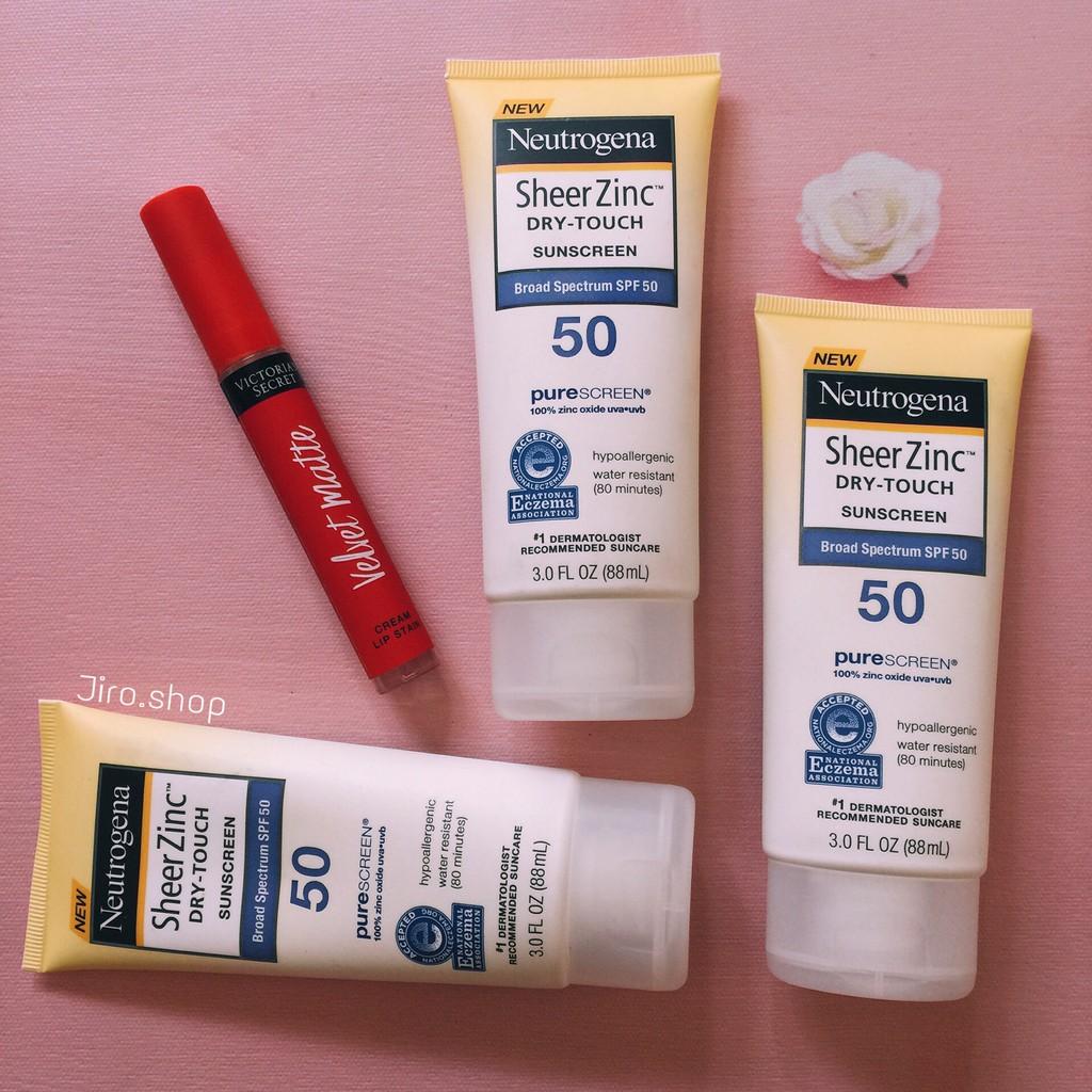 Kem chống nắng NEUTROGENA Sheer Zinc Dry Touch Sunscreen SPF 50