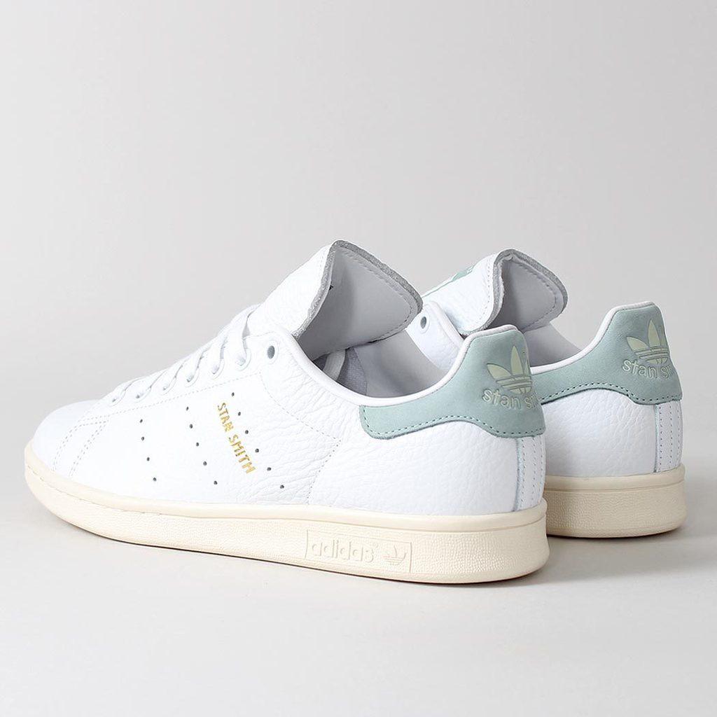 (CÓ ẢNH THẬT - FULLBOX) giày thể thao STAN SMITH gót nỉ xanh lơ