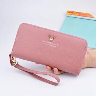 ví nữ dài giá rẻ cầm tay đẹp thời trang Ins sinh viên phiên bản Hàn Quốc của trái tim nhỏ màu đỏ dễ thương số không 201 thumbnail