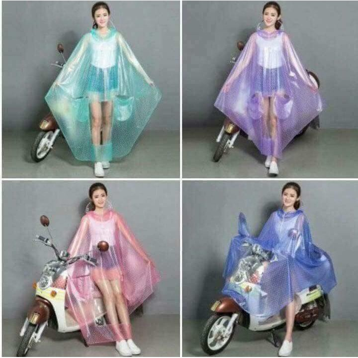 áo mưa chấm bi l