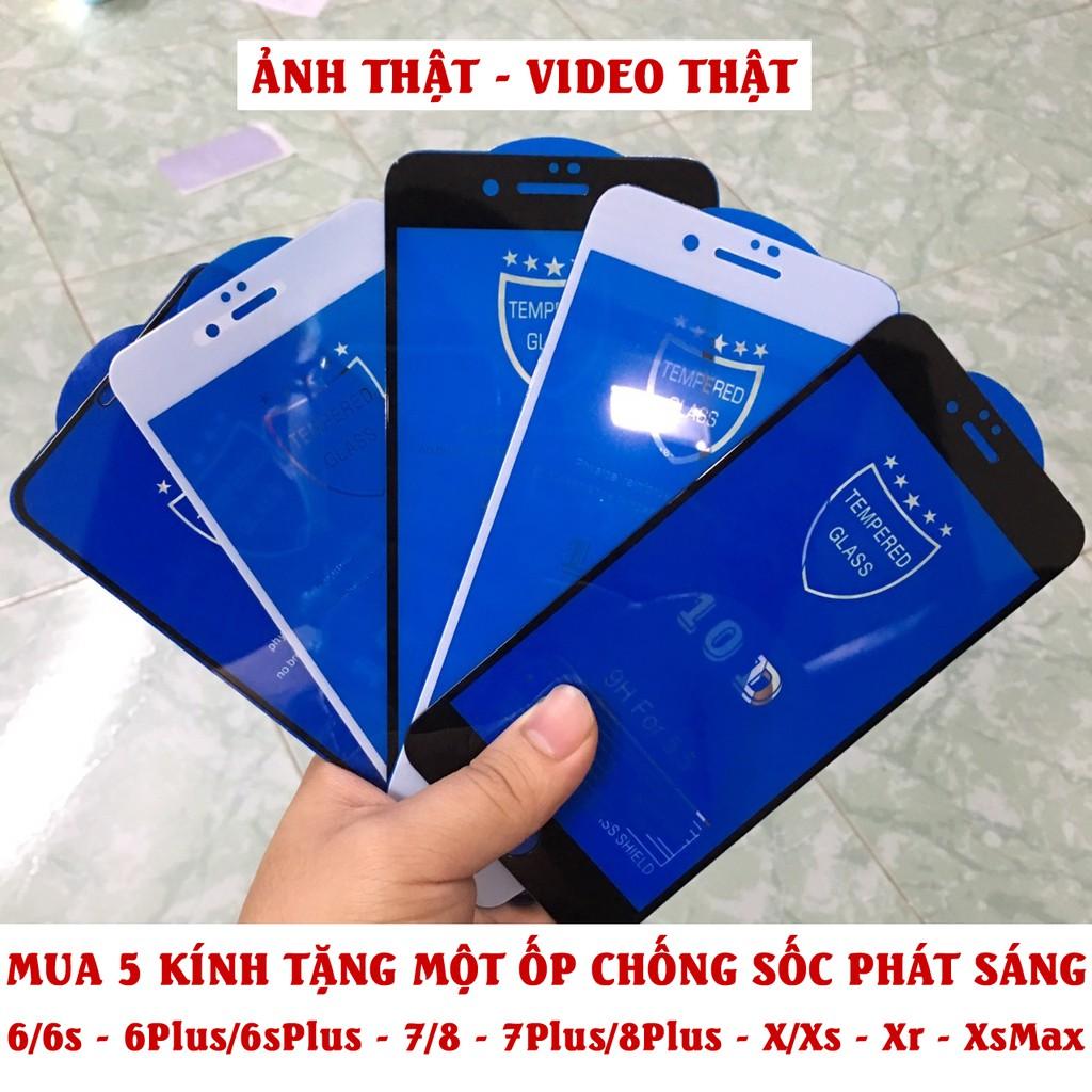 Kính cường lực iphone 10D full cho iphone 6/7/8/7Plus/8Plus/X/Xr/XsMax
