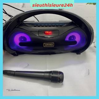 Loa Bluetooth Karaoke Kimiso S1, S2, BKK - B98 ❤️FREESHIP❤️Loa Bluetooth Tặng Kèm Mic Hát Có Dây - Đèn Led Sống Động.