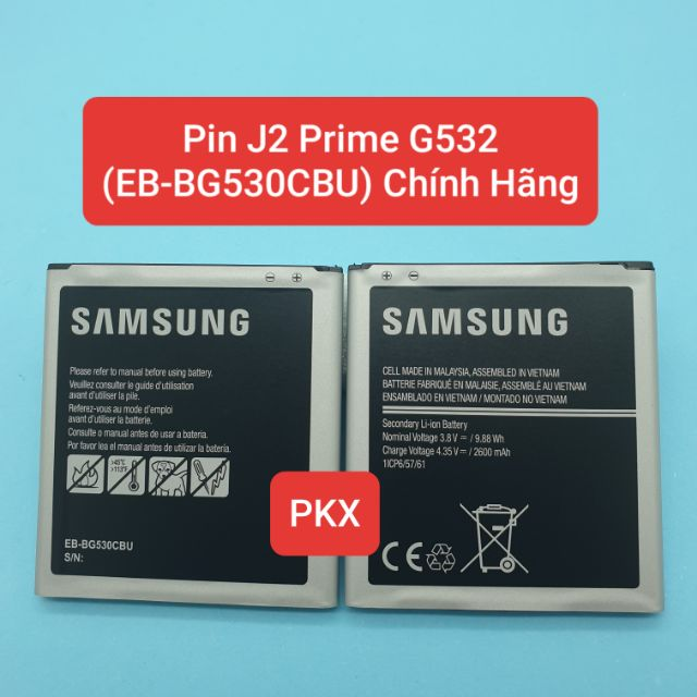 Pin Samsung J2 Prime / G532 (EB-BG530CBU) EB-BG531BBE EB-BG530CBE 2600MAh Grand Prime J3 2016 J2 Prime G508W G530 G531F,