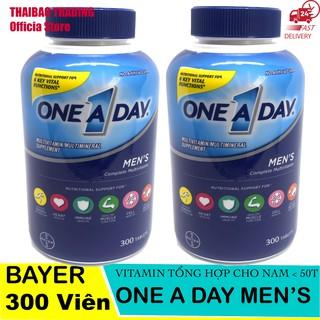 [MẪU MỚI] VIÊN UỐNG VITAMIN TỔNG HỢP ONE A DAY FOR MEN'S 300 viên BAYER