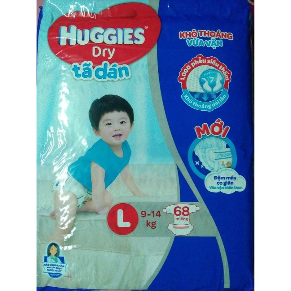 Tã dán Huggies M76/ L68/ XL62/ XXL56 mẫu mới