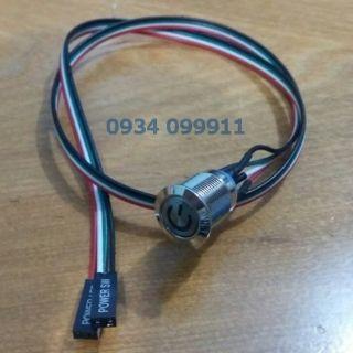 Nút nguồn power thùng pc auto volt và chống ngược cực / nút nhấn LED RMN