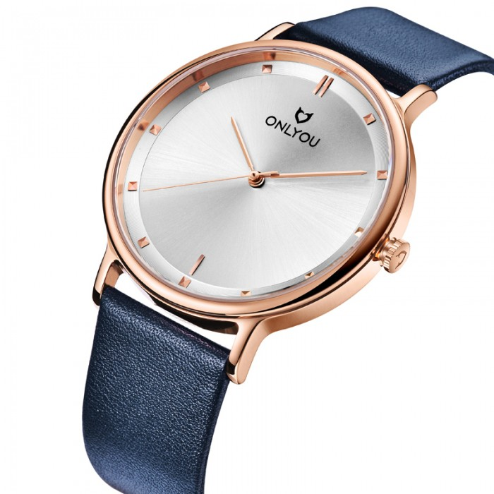 Đồng hồ Onlyou Nam U1033GC Dây Da 40mm