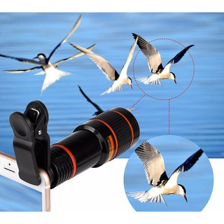 Ống kính chụp hình Zoom 12x cho điện thoại, máy tính bảng