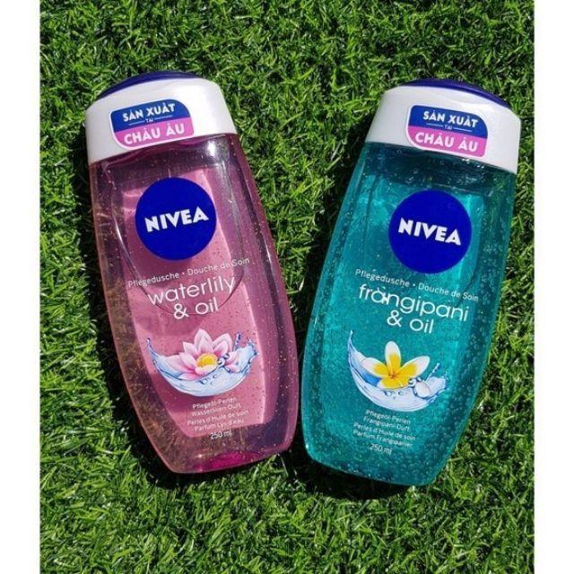 NHẬP KHẨU ĐỨC - Sữa tắm Nivea Waterlily/ frangipani