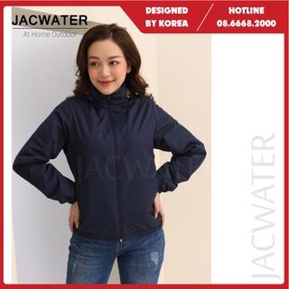 Áo lông cừu nữ nhẹ chống nước, khoác dù thể thao giữ nhiệt JACWATER V110