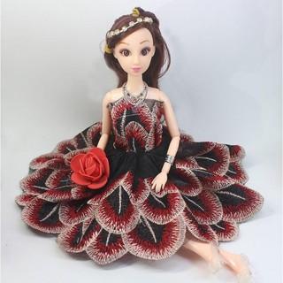 Búp bê công chúa SaKiO – Váy con công Minidoll – Hàng nhập khẩu