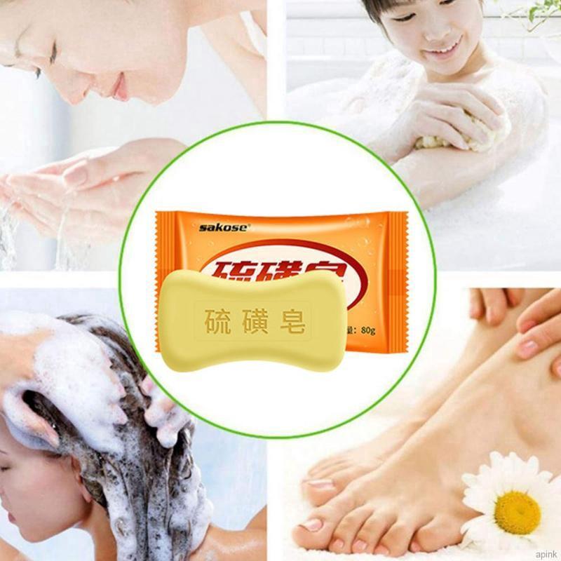 [Hàng mới về] Xà phòng lưu huỳnh chống mụn và ghẻ làm sạch lỗ chân lông kiềm dầu làm sáng tông màu da cho mặt và cơ thể