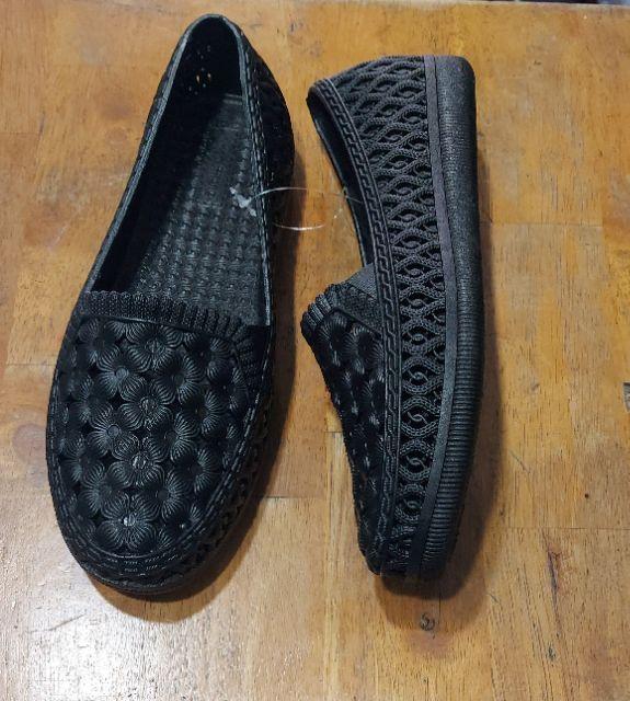Giày bích mũ nhựa hoa văn nữ HOT B13
