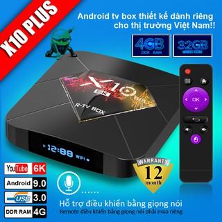 Android Tivi Box X10 plus Tivi Box Ram 4GB Rom 32Gb , Bảo hành 1 năm