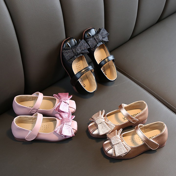 Giày búp bê đính nơ phong cách Hàn Quốc cho bé gái từ 2 -13 tuổi G11