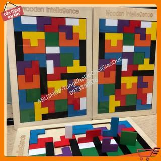 Đồ Chơi Xếp Hình Gỗ🌸Bảng Ghép Tetris Montessori🌸FREESHIP🌸Tăng Trí Thông Minh-Sáng Tạo🌸Gỗ Tự Nhiên-An Toàn Cho Bé
