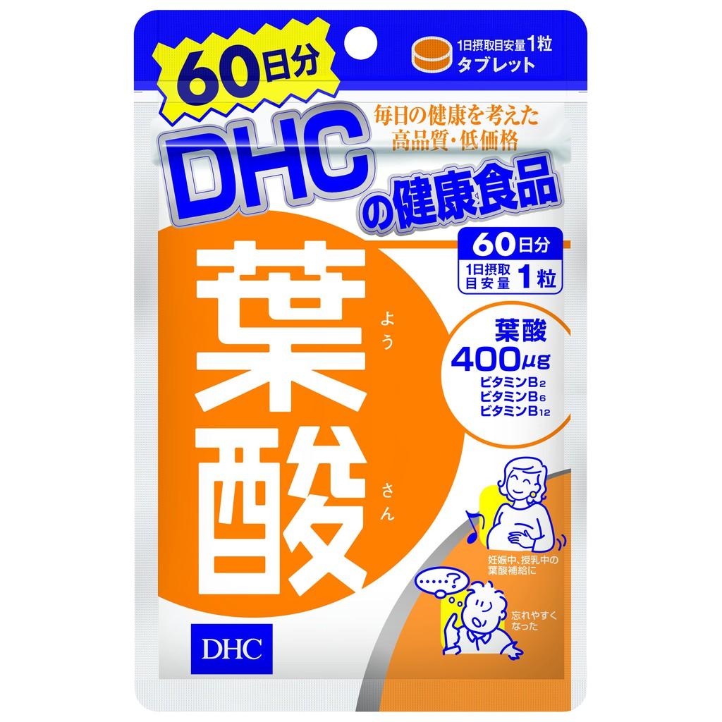 Viên uống vitamin dành cho Bà bầu DHC Folic Acid 60viên/gói