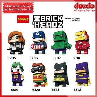 DECOOL 6815-6822 Brick Headz các siêu anh hùng - Đồ chơi Lắp ghép Mini Minifigures Batman Iron Man BrickHeadz thumbnail