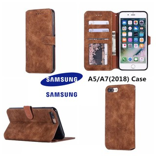 Samsung Case A5/A7 Phone Case Retro TPU Soft Cover Wallet Casing